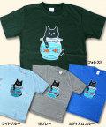 松下カツミ猫柄T-シャツ:金魚鉢
