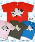 松下カツミ猫柄T-シャツ:新聞ネコ