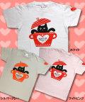 【猫柄】カツミアート(松下カツミ)T-シャツ:ハートポット