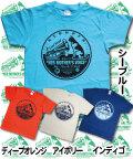 【猫柄】カツミアート(松下カツミ)T-シャツ:ブルーキャットヨコハマ