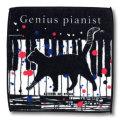 猫柄タオルハンカチ:天才ピアニスト