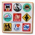 猫柄タオルハンカチ:キャットピクトグラム