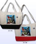 【猫柄】カツミアート(松下カツミ)トートバッグ(2WAY): アンディ