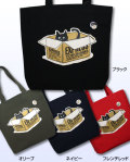 【猫柄】カツミアート(松下カツミ)トートバッグ-C:ダンボールキャット