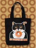 【猫柄】カツミアート(松下カツミ)トートバッグ-C:ニッキードーナツ