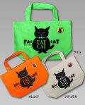 【猫柄】カツミアート(松下カツミ)トートバッグ-D:ファットキャット