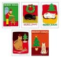 猫柄クリスマスカード-2