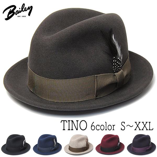 """""""Bailey(ベイリー)"""" ウールフエルト中折れ帽 TINO ティノ"""