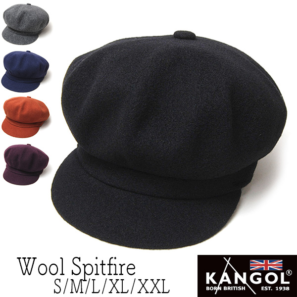 """KANGOL(カンゴール)""ウールキャスケット (WOOL SPITFIRE)【送料無料】[大きいサイズの帽子アリ][小さいサイズあり] 【コンビニ受取対応】 (kaw-kg-0259bc)"