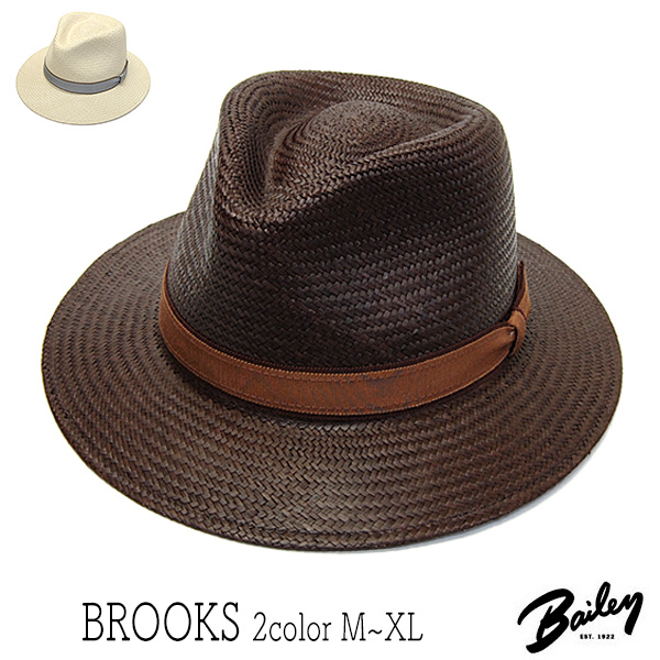 BAILEYパナマ中折れ帽BROOKS