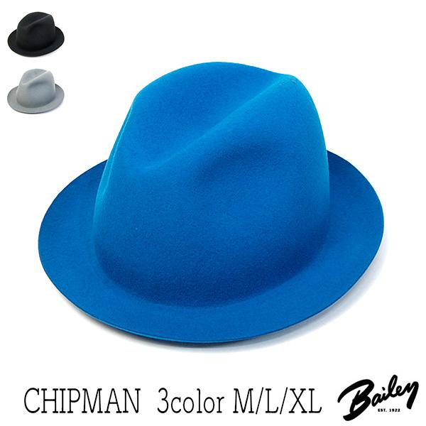 """アメリカ""""Bailey(ベイリー)""""ウールフエルト中折れ帽<CHIPMAN>[ハット] 【送料無料】[大きいサイズの帽子アリ][小さいサイズあり] 【コンビニ受取対応】 (kaw-bal-chipman)"""