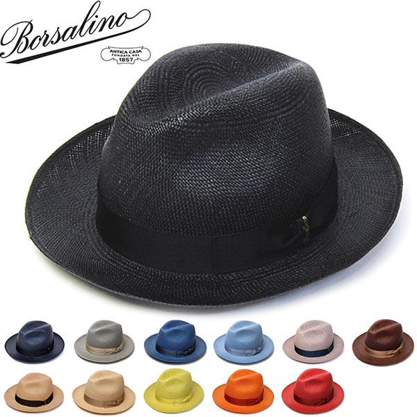 """イタリア製""""Borsalino(ボルサリーノ)""""パナマ中折れ帽(140228 カラーパナマ)[ハット]"""