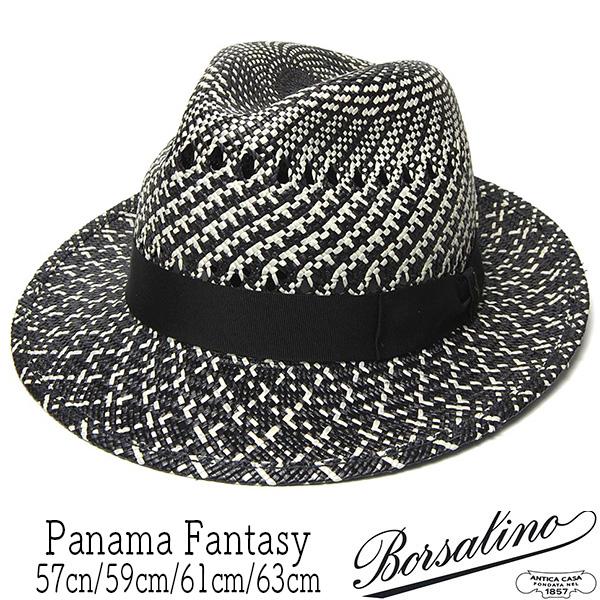 """""""Borsalino(ボルサリーノ)"""" パナマ中折れ帽 Panama Fantasy141178"""