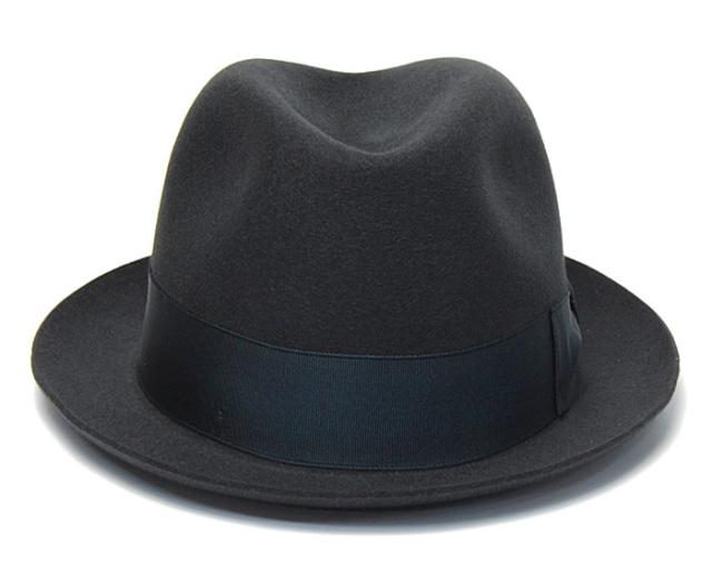 """イタリア製""""Borsalino(ボルサリーノ)"""" ファーフェルト中折れ帽 390131"""