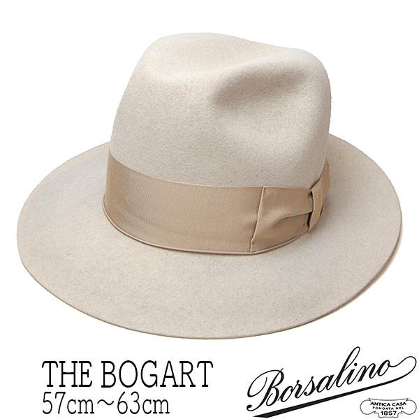 """""""Borsalino(ボルサリーノ)""""ラビットファーフェルトソフト帽(THE BOGART)"""
