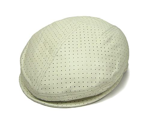 """イタリア製""""Borsalino(ボルサリーノ)""""パンチングレザーハンチング[大きいサイズの帽子アリ] (kaw-borh-8s12075w)"""