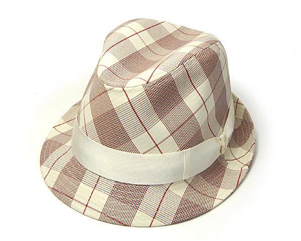 """イタリア製""""Borsalino(ボルサリーノ)""""チェック中折れ帽[大きいサイズの帽子アリ] 【コンビニ受取対応】 (kaw-bort-b36677s13)"""