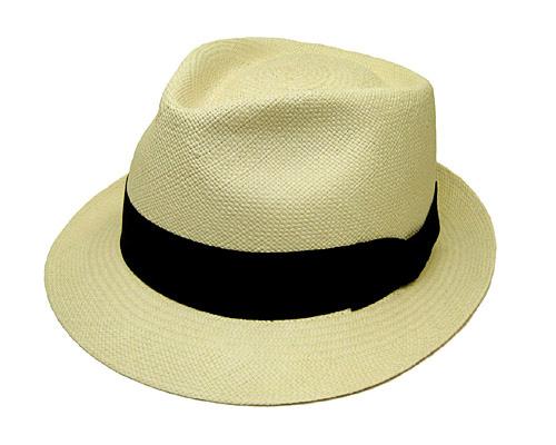 文二郎パナマ中折れ帽<パナマツマミ>