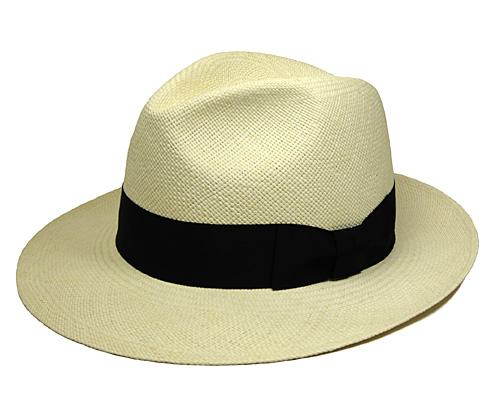 文二郎パナマ中折れ帽<パナマツマミワイド>