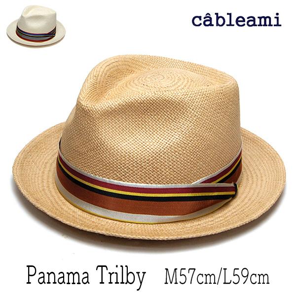 """cableami(ケーブルアミ)""パナマ中折れ帽"
