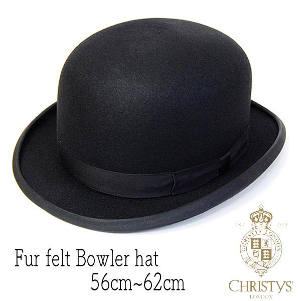 """イギリス""""CHRISTYS'(クリスティーズ)""""ファーフエルトボーラーハット"""