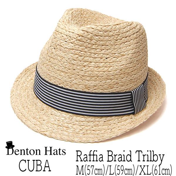 """イギリス""""DENTON HATS(デントン)"""" ラフィアブレード中折れ帽[CUBA]"""