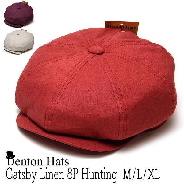"""イギリス""""DENTON HATS(デントン)"""" リネン8枚はぎハンチング [GATSBY]"""