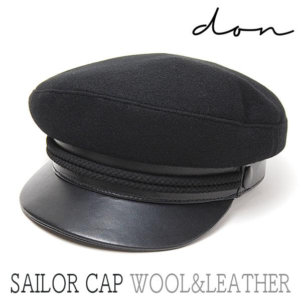 """DON PARIS(ドン パリ)"" ウールxレザーマリンキャップ SAILOR CAP?"