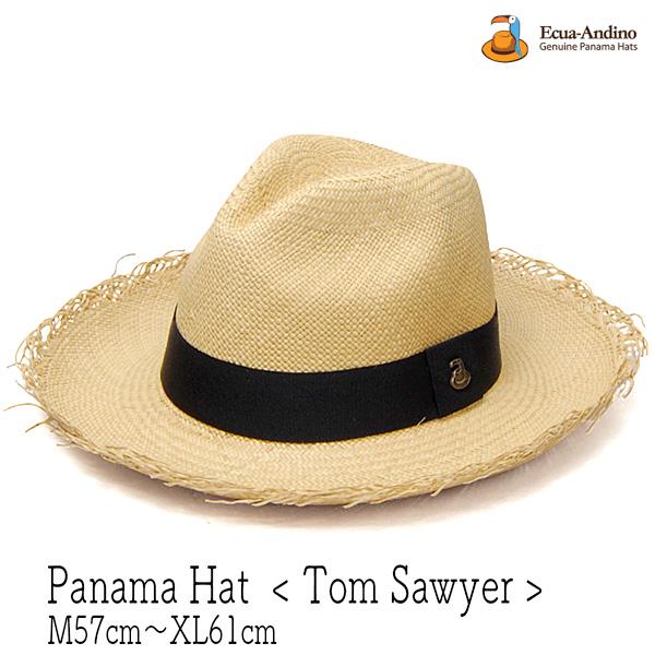 """エクアドル""""ECUA-ANDINO(エクアアンディーノ)""""パナマ中折れ帽 TOM SAWYER"""