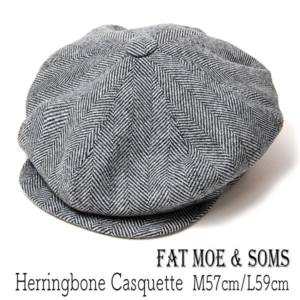 """FAT MOE&SONS(ファットモゥ&サンズ)"" ヘリンボーン8枚はぎハンチング Paper Boy"