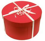 帽子用ボックス(リボン付き) 丸箱*帽子と一緒にご注文下さい 対応外帽子あり【コンビニ受取対応】 (kaw-boxp)