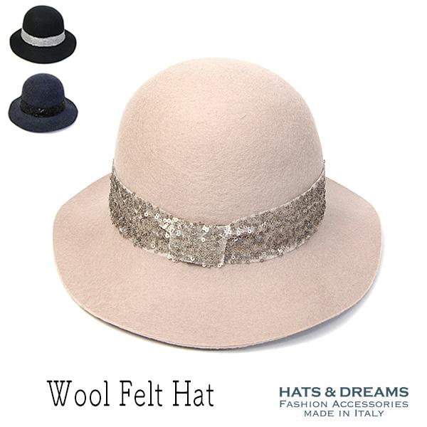 HATS&DREAMSウールフエルトハット(スパンコール)