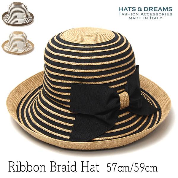 """イタリア""""HATS&DREAMS(ハッツアンドドリームス)"""" ペーパーブレードリボンハット"""