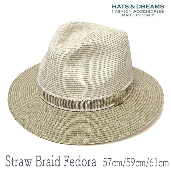HATS&DREAMSストローブレード中折れ帽