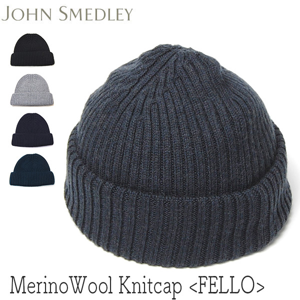 """""""JOHN SMEDLEY(ジョンスメドレー)"""" ウールニットキャップ FELLO"""