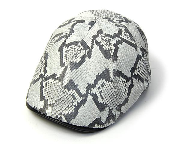 "【A】 ""Hat Studio Koga""パイソン8枚はぎハンチング[大きいサイズの帽子アリ] 【コンビニ受取対応】 (kaw-k-python8)"