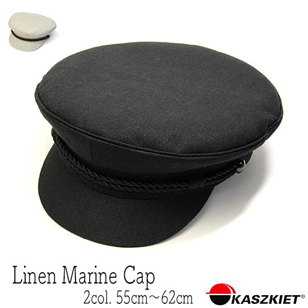 """ポーランド""""KASZKIET(カシュケット)""""リネンマリンキャップ[大きいサイズの帽子アリ][小さいサイズの帽子アリ] (kaw-kas-15151)"""