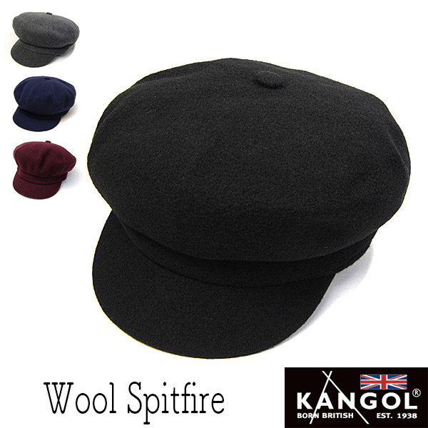 """アウトレット """"KANGOL(カンゴール)""""ウールキャスケット (WOOL SPITFIRE)"""