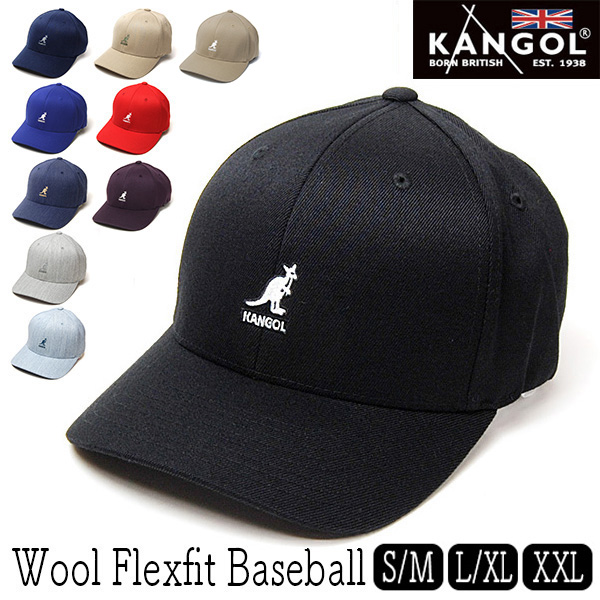 """KANGOL(カンゴール)"" ストレッチツイルベースボールキャップ Wool Flexfit Baseball"