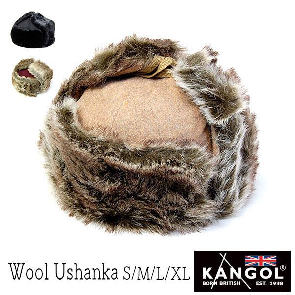 """イギリス""""KANGOL(カンゴール)""""ファー付き飛行帽[WOOL USHANKA]"""