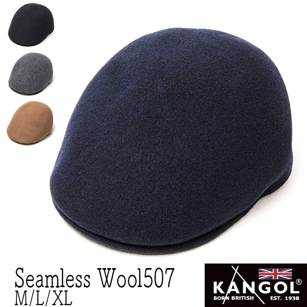 """KANGOL(カンゴール)""ウールハンチング [SEAMLESS WOOL 507]"