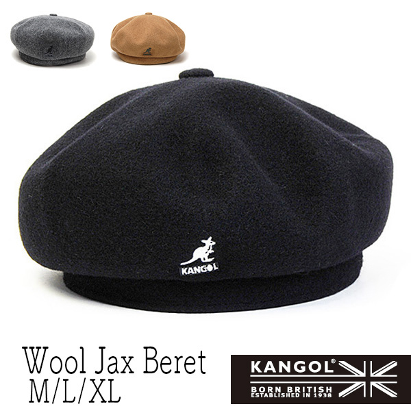 """""""KANGOL(カンゴール)"""" ウールベレー(Wool Jax Beret)"""