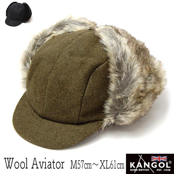 """KANGOL(カンゴール)"" つば付き飛行帽 [WOOL AVIATOR]"