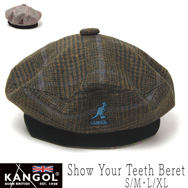 KANGOL(カンゴール) チェックベレー[Show Your Teeth Beret]