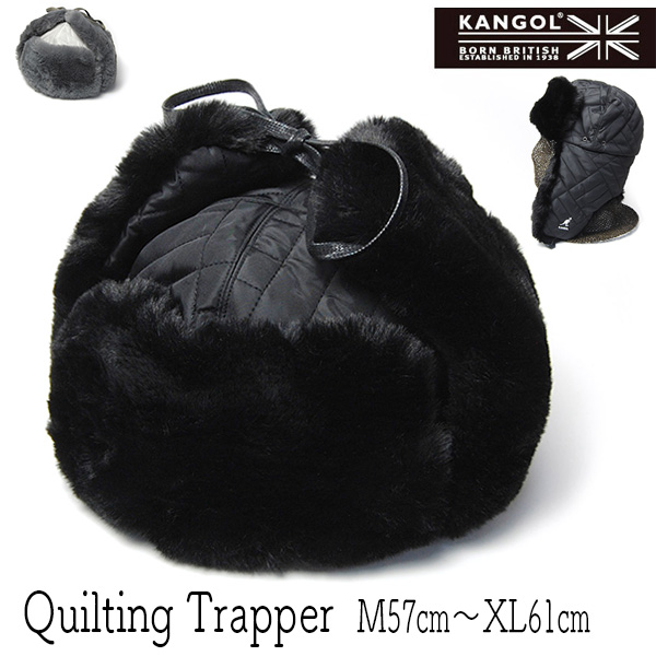 KANGOL(カンゴール)ファー付き飛行帽QUILTED TRAPPERフライトキャップ