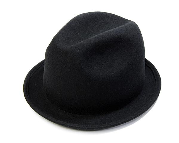 """【アウトレットセール】 """"DRAGON HAT(ドラゴンハット)""""ウールフエルト中折れ帽<ショートブリム>[大きいサイズの帽子アリ] 【コンビニ受取対応】 (kaw-kyo-v30405)"""
