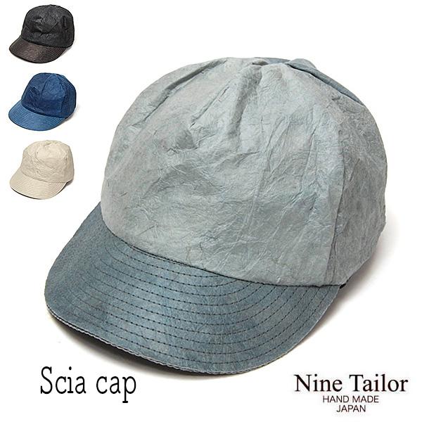 """""""NINE TAILOR(ナインテイラー)""""和紙キャップ Scia Cap"""