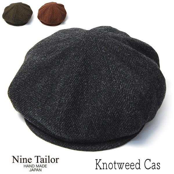 NINE TAILOR ナインテイラー ヘリンボーン8枚はぎハンチング キャスケット Knotweed Cas