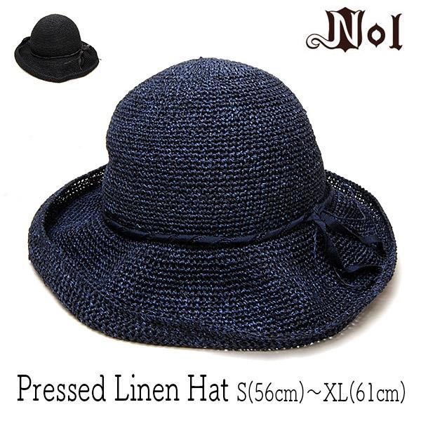 NOLレディース細編みハットPRESSED LINEN HAT
