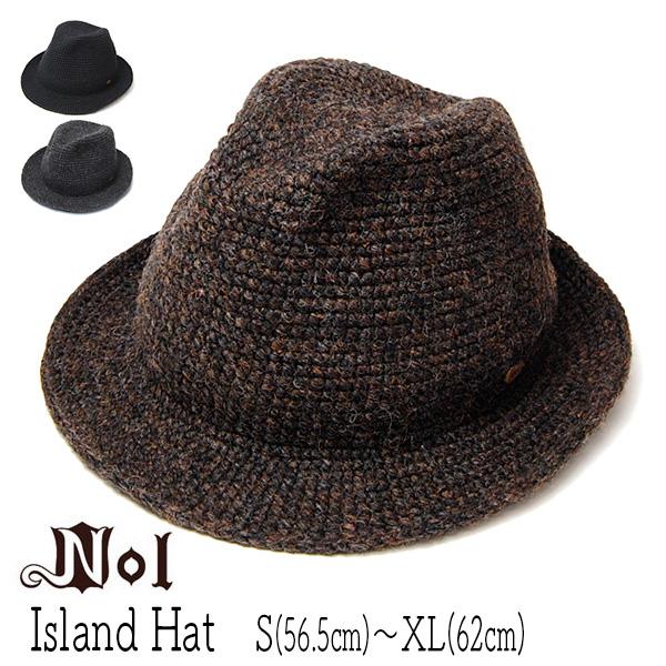 """NOL(ノル)"" 細編みウール中折れ帽(Island Hat)"